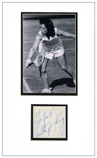 Billie Jean King Autograph Signed Display
